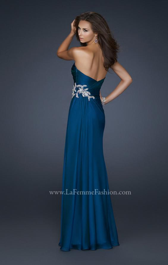 Picture of: Chiffon Prom Dress with Sweetheart Neckline and Pleats, Style: 17740, Back Picture