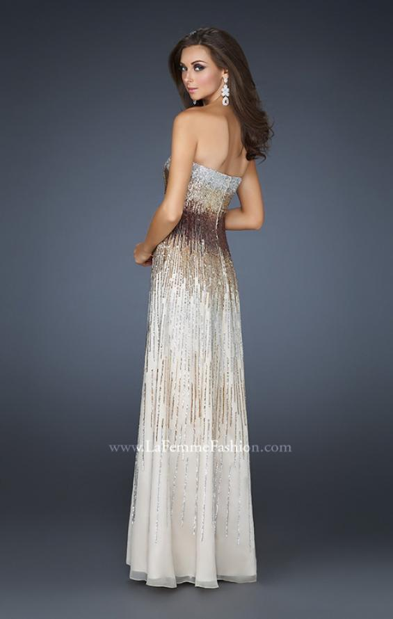 Picture of: Sequined Sweetheart Neckline Gown with Beading, Style: 17765, Back Picture