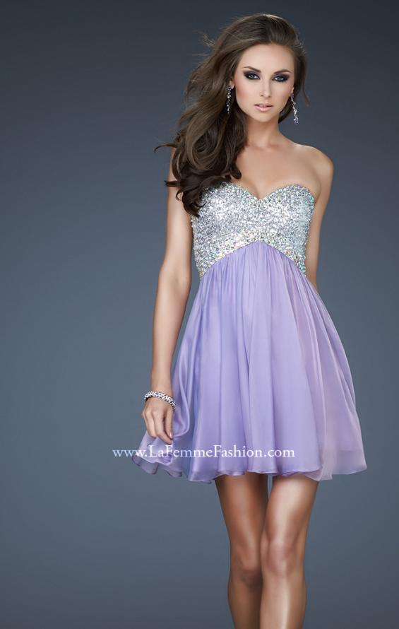 Picture of: Strapless Mini Dress with Criss Cross Open Back, Style: 17902, Main Picture