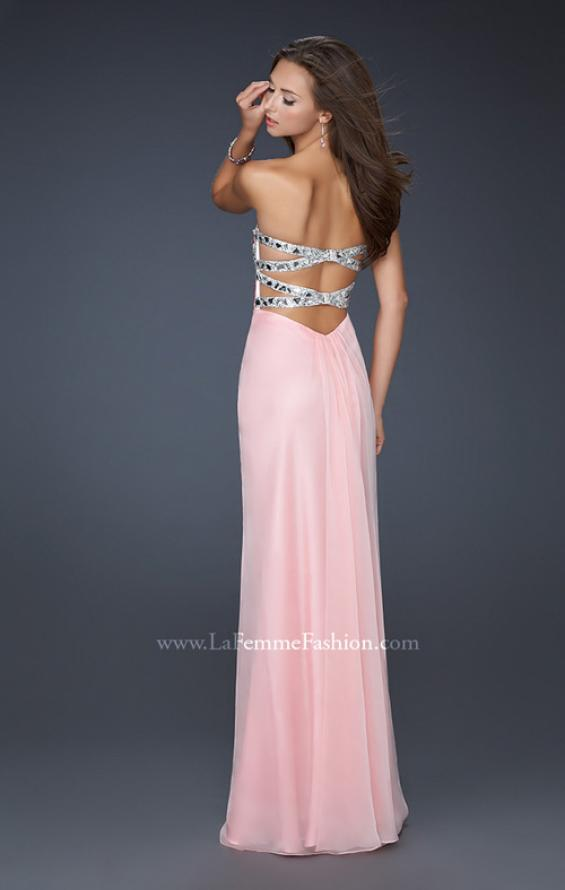Picture of: Flowing Chiffon Prom Dress with Hand Beaded Top, Style: 17909, Detail Picture 4
