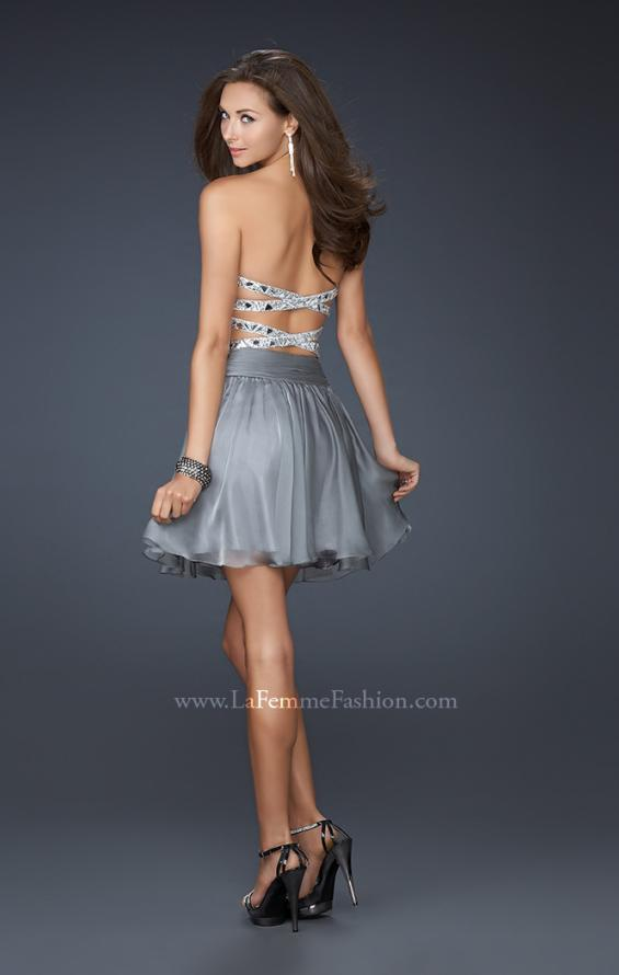 Picture of: Sexy Chiffon Cocktail Dress with Beaded Bust, Style: 17953, Back Picture