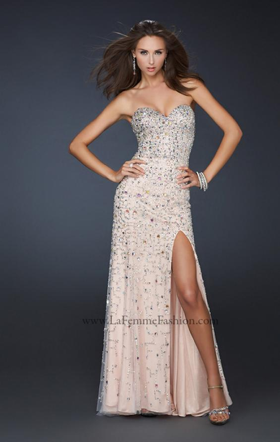 Picture of: Full Length Strapless Sweetheart Gown with Hand Beading, Style: 17975, Main Picture