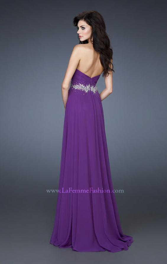 Picture of: Sweetheart neckline Flowing Gown with Ruched Bodice, Style: 18001, Back Picture
