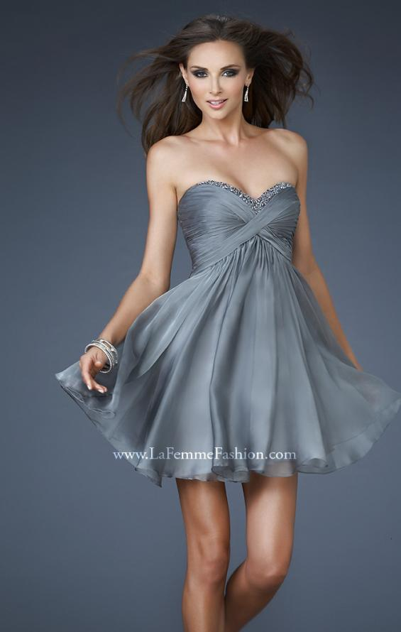 Picture of: Sweetheart Neck Cocktail Dress with Beads and Open Back, Style: 18177, Main Picture
