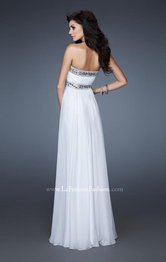 Picture of: Chiffon Prom Gown with Beaded Neckline and Empire Waist, Style: 18241, Back Picture
