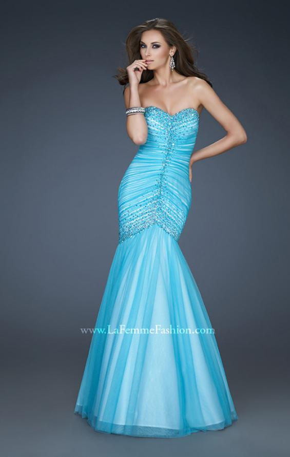 Picture of: Sweetheart Neckline Net Prom Gown with Trumpet Skirt, Style: 18286, Main Picture
