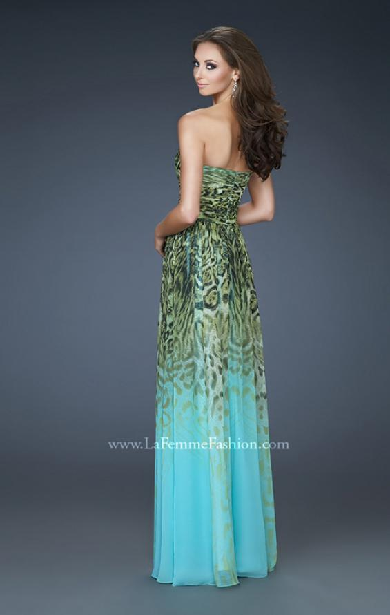 Picture of: Animal Print Ombre Dress with Sweetheart Neckline in Print, Style: 18293, Back Picture