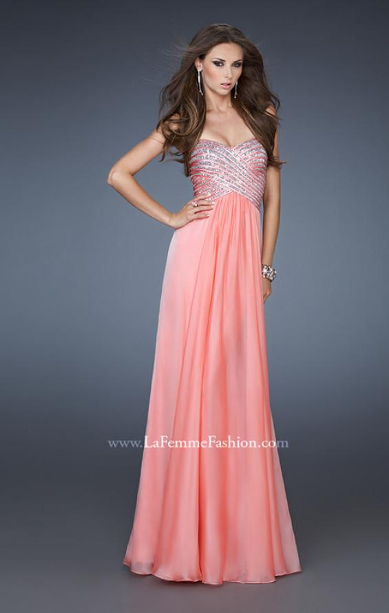 Picture of: Embellished Long Prom Dress with Sequined Bodice, Style: 18342, Main Picture