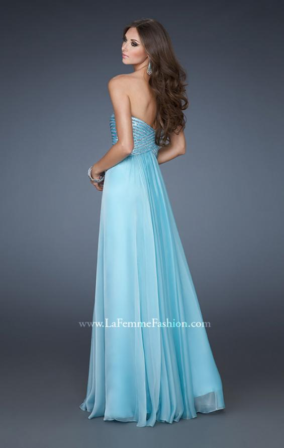 Picture of: Embellished Long Prom Dress with Sequined Bodice, Style: 18342, Back Picture