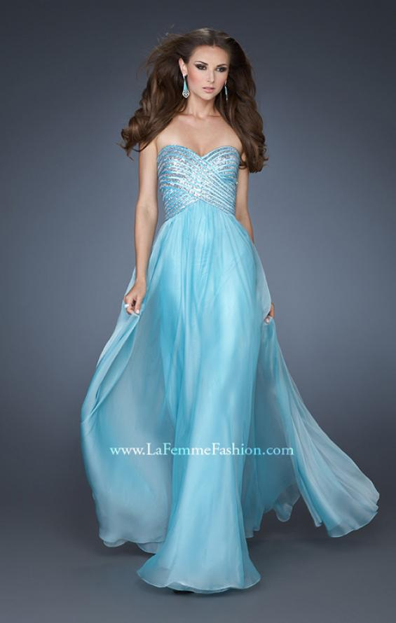 Picture of: Embellished Long Prom Dress with Sequined Bodice, Style: 18342, Detail Picture 1
