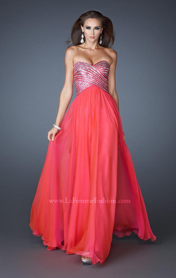 Picture of: Embellished Long Prom Dress with Sequined Bodice, Style: 18342, Detail Picture 2