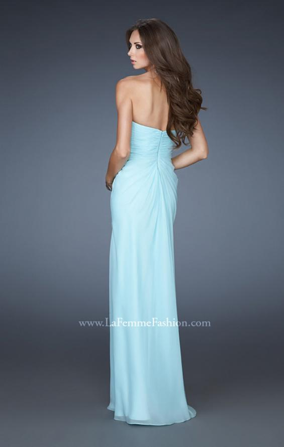 Picture of: Rhinestone Encrusted Dress with Vintage Inspired Pattern, Style: 18347, Back Picture