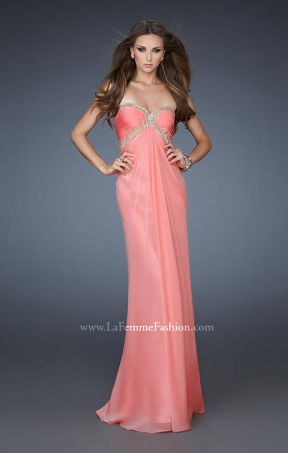 Picture of: Empire Waist Prom Dress with Sequin Design and Cut Outs, Style: 18390, Main Picture