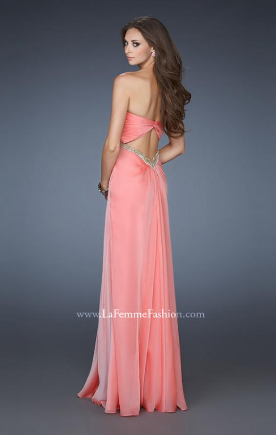 Picture of: Empire Waist Prom Dress with Sequin Design and Cut Outs, Style: 18390, Back Picture