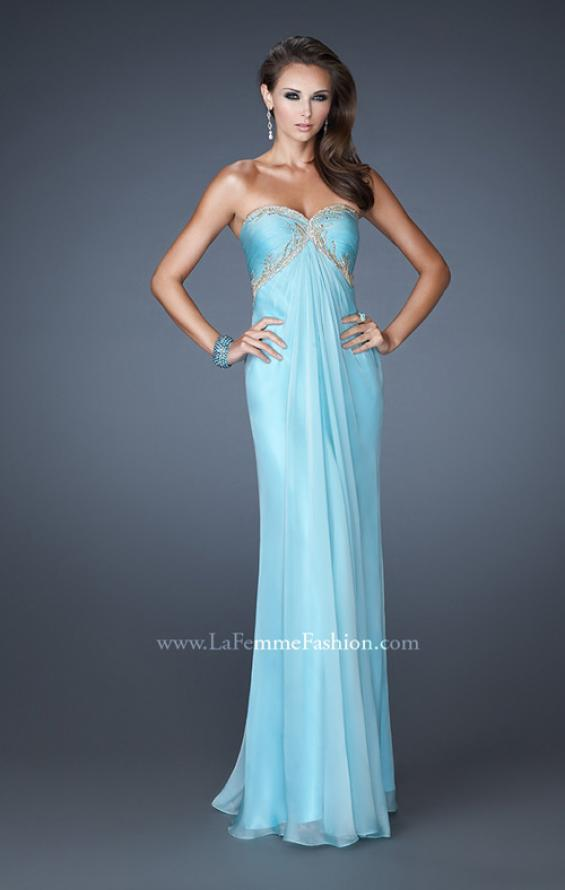 Picture of: Empire Waist Prom Dress with Sequin Design and Cut Outs, Style: 18390, Detail Picture 1