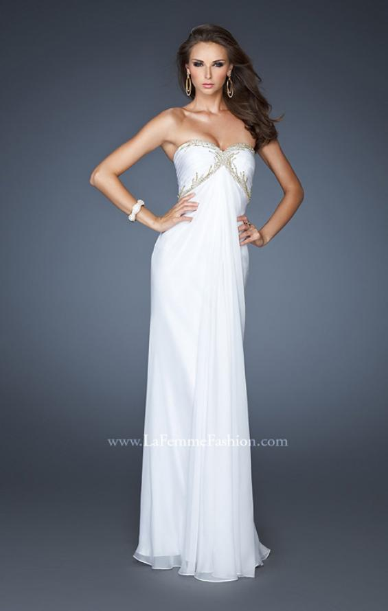 Picture of: Empire Waist Prom Dress with Sequin Design and Cut Outs, Style: 18390, Detail Picture 2