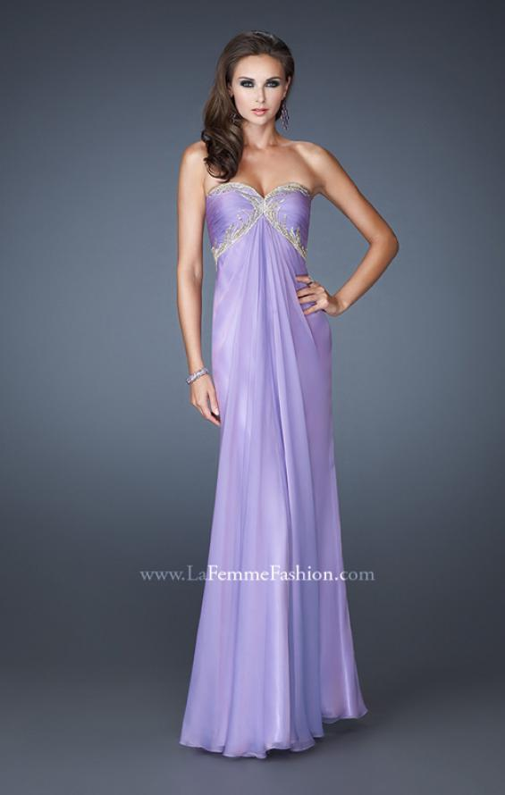 Picture of: Empire Waist Prom Dress with Sequin Design and Cut Outs, Style: 18390, Detail Picture 3