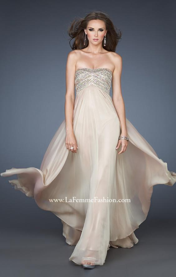 Picture of: Empire Waist Chiffon Prom Dress with Sequins and Beads, Style: 18447, Main Picture