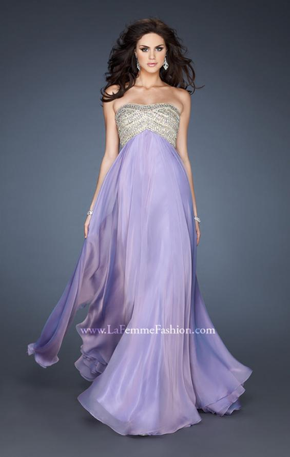 Picture of: Empire Waist Chiffon Prom Dress with Sequins and Beads, Style: 18447, Detail Picture 3