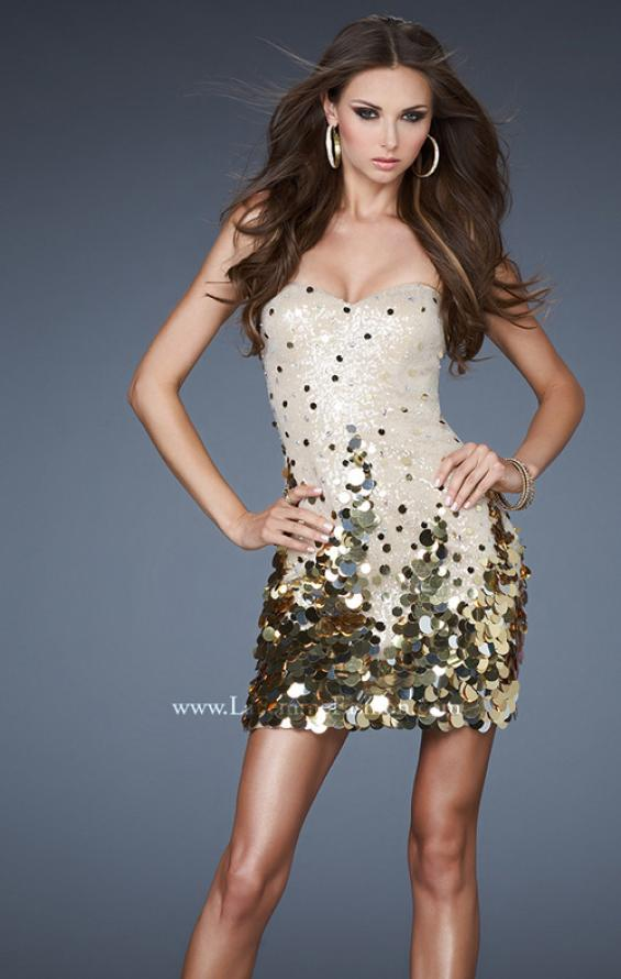 Picture of: Sexy Short Sequin Dress with Sweetheart Neckline, Style: 18449, Main Picture