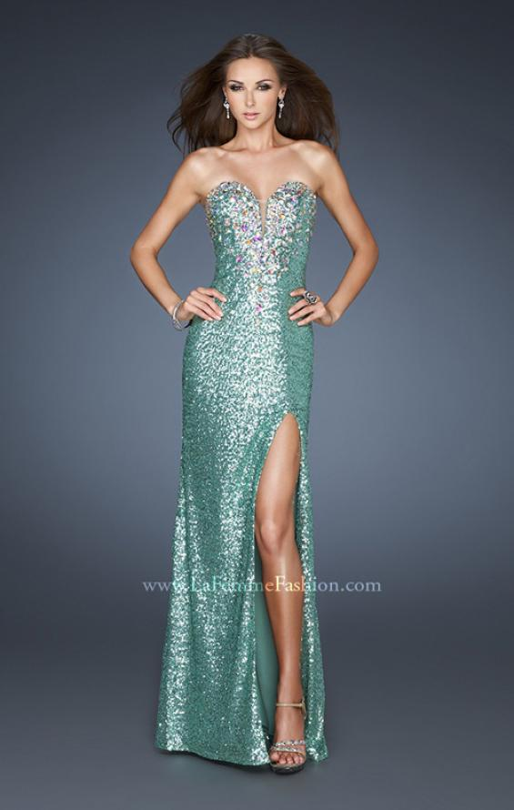 Picture of: Sexy Sequin Dress with Slit and Plunging Neckline, Style: 18456, Main Picture