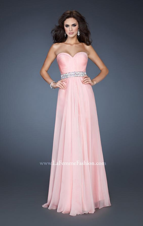 Picture of: Sweetheart Neckline Chiffon Gown with Rhinestone Belt, Style: 18471, Detail Picture 1
