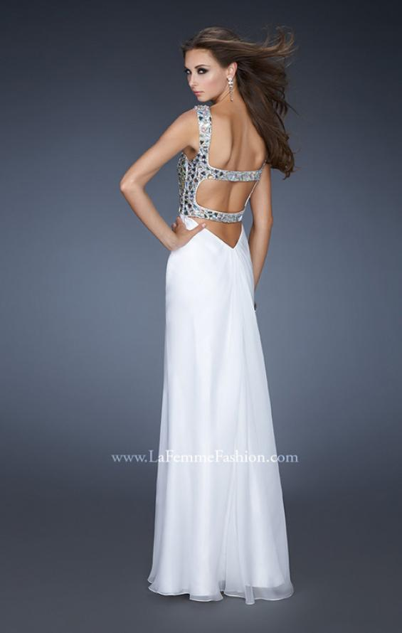 Picture of: Sophisticated Dress with Criss Cross Bodice and Rhinestones, Style: 18487, Back Picture