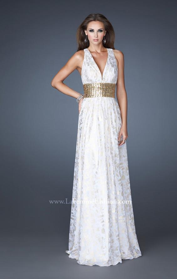 Picture of: Chiffon Prom Gown with Beaded Empire Waist, Style: 18504, Main Picture