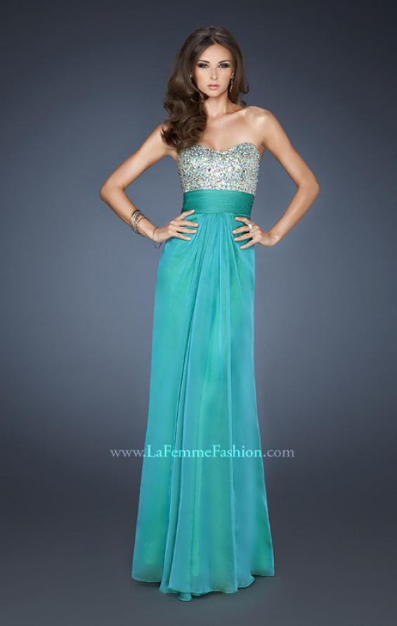 Picture of: Flowing Chiffon Prom Dress with Criss Cross Back, Style: 18528, Main Picture