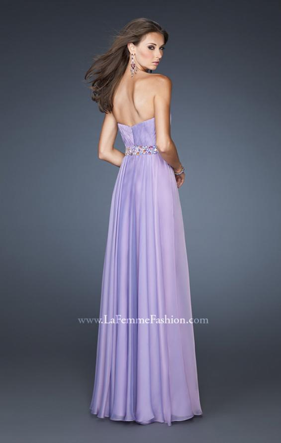Picture of: Beaded One Shoulder A-line Long Prom Dress, Style: 18533, Back Picture