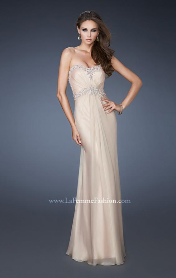 Picture of: Sweetheart Neckline Chiffon Prom Dress with Beading, Style: 18542, Back Picture