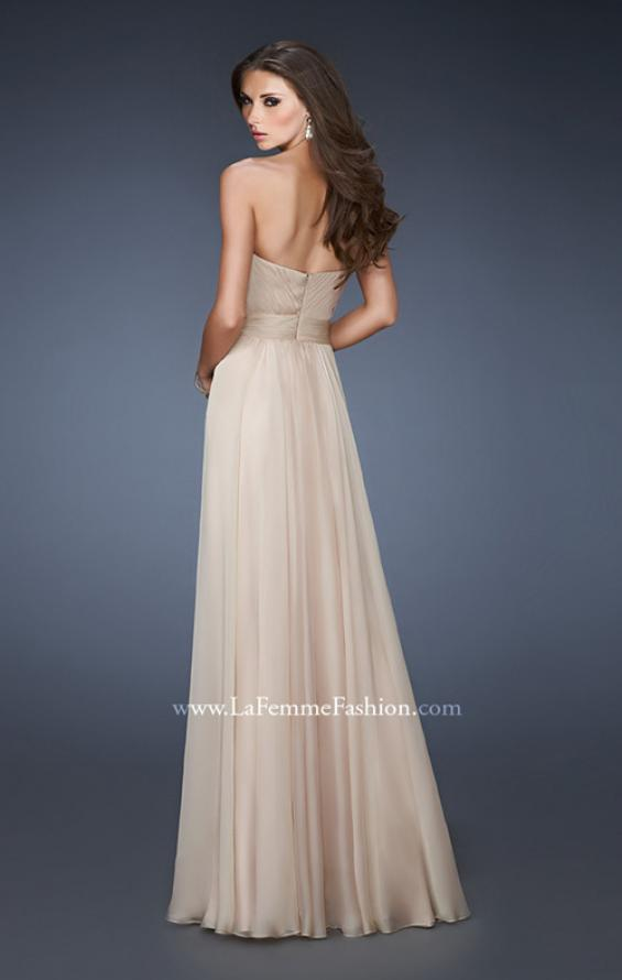 Picture of: Sweetheart Chiffon Prom Dress with Multi Colored Stones in Nude, Style: 18551, Back Picture