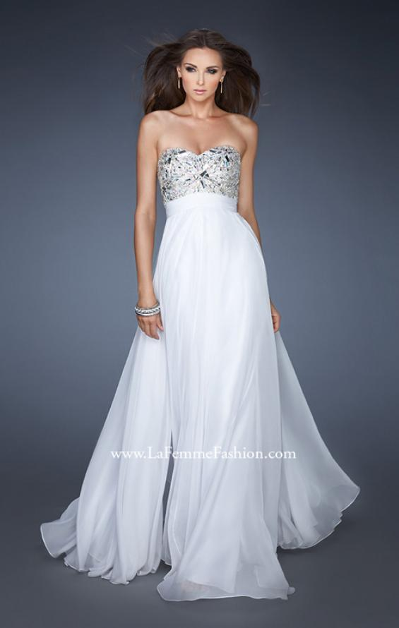 Picture of: Empire Waist Chiffon Prom Dress with Embellished Bodice, Style: 18561, Main Picture