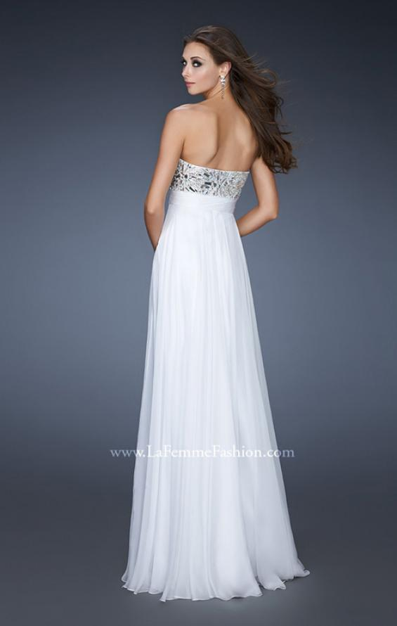 Picture of: Empire Waist Chiffon Prom Dress with Embellished Bodice, Style: 18561, Back Picture