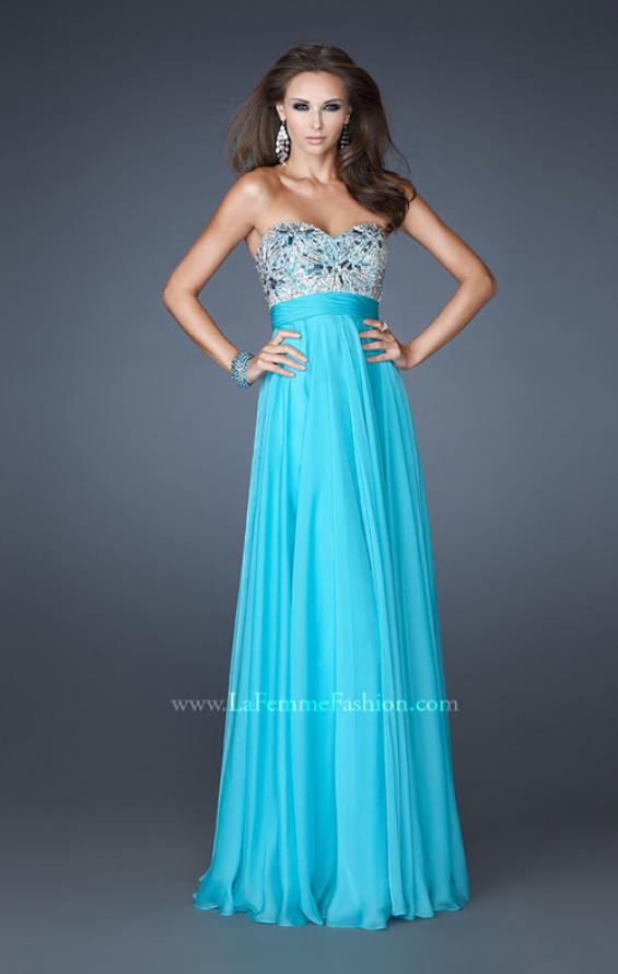 Picture of: Empire Waist Chiffon Prom Dress with Embellished Bodice, Style: 18561, Detail Picture 1