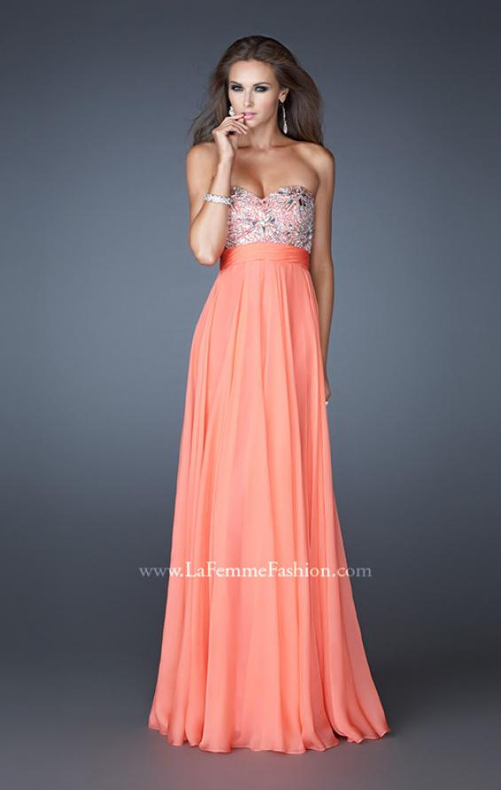 Picture of: Empire Waist Chiffon Prom Dress with Embellished Bodice, Style: 18561, Detail Picture 2