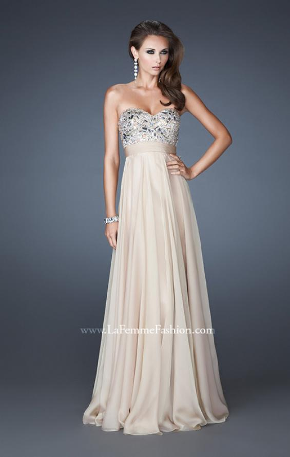 Picture of: Empire Waist Chiffon Prom Dress with Embellished Bodice, Style: 18561, Detail Picture 3