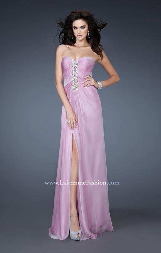 Picture of: Strapless Sweetheart Neckline Dress with Back Pleating in Purple, Style: 18571, Main Picture