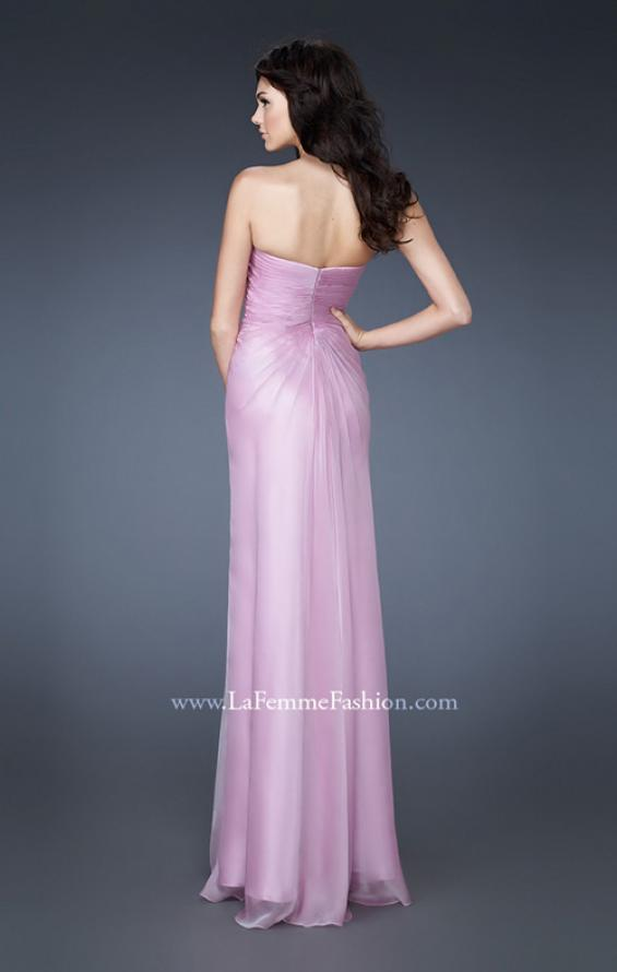 Picture of: Strapless Sweetheart Neckline Dress with Back Pleating in Purple, Style: 18571, Back Picture
