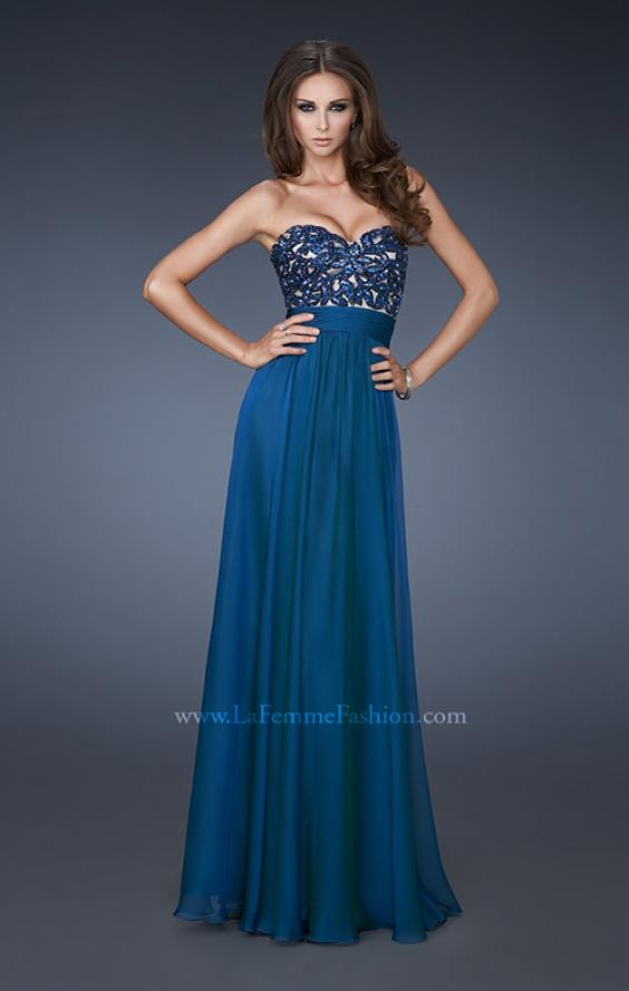 Picture of: A-line Chiffon Gown with Sequin Bodice and Beading, Style: 18581, Main Picture