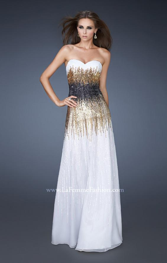 Picture of: A-line Prom Dress with Sequin Detail, Style: 18592, Main Picture