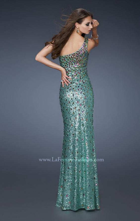 Picture of: Fully Sequined Prom Dress with Side Slit and Stones, Style: 18600, Main Picture