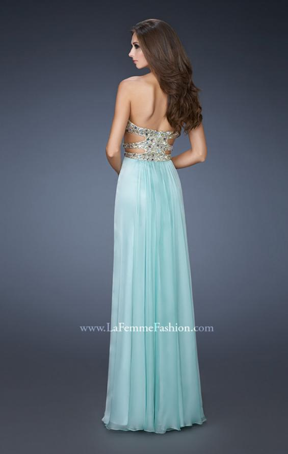 Picture of: Stone Embellished Prom Dress with Sequins and Cut Outs, Style: 18602, Back Picture