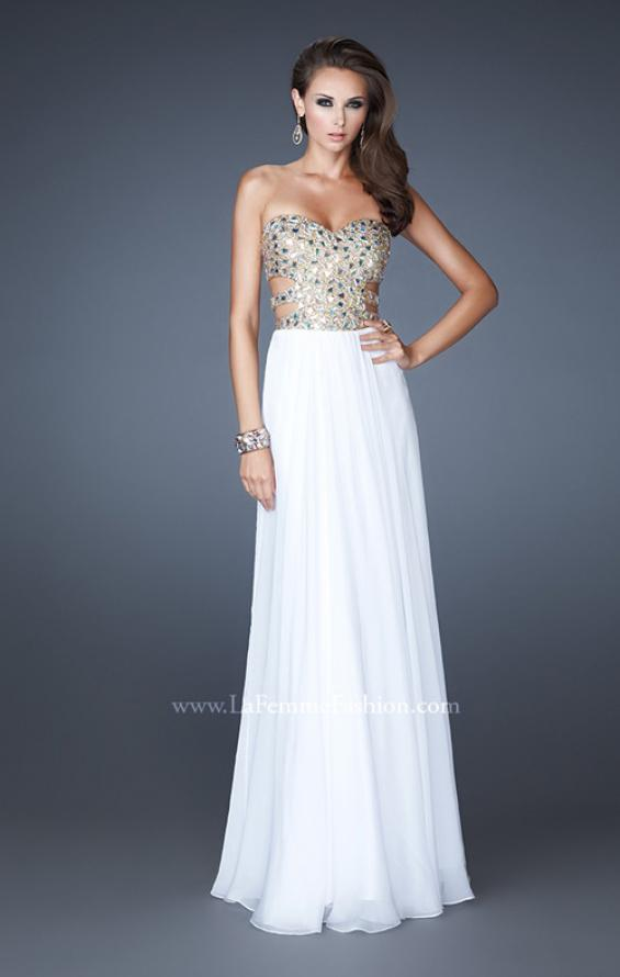 Picture of: Stone Embellished Prom Dress with Sequins and Cut Outs, Style: 18602, Detail Picture 3