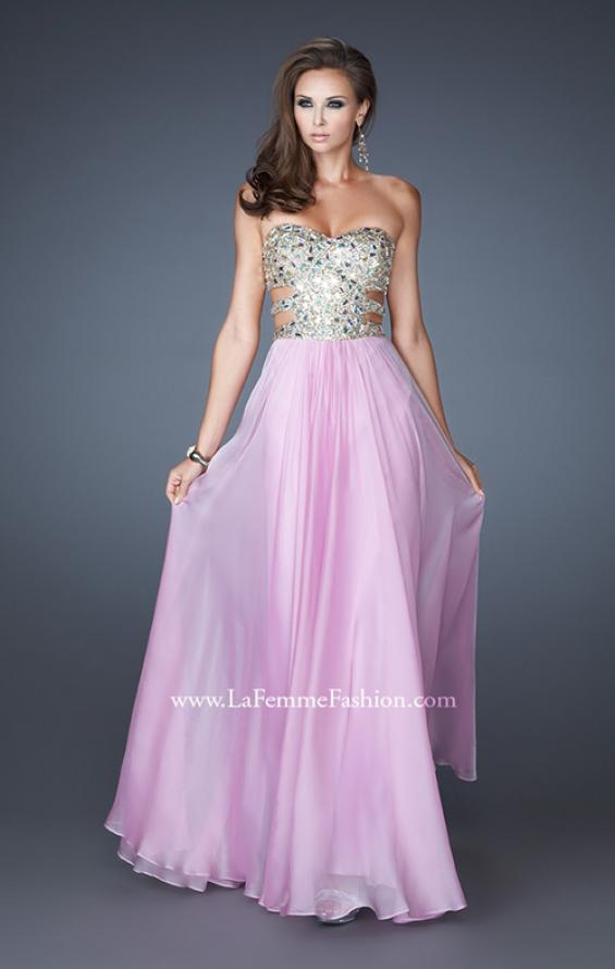 Picture of: Stone Embellished Prom Dress with Sequins and Cut Outs, Style: 18602, Detail Picture 4