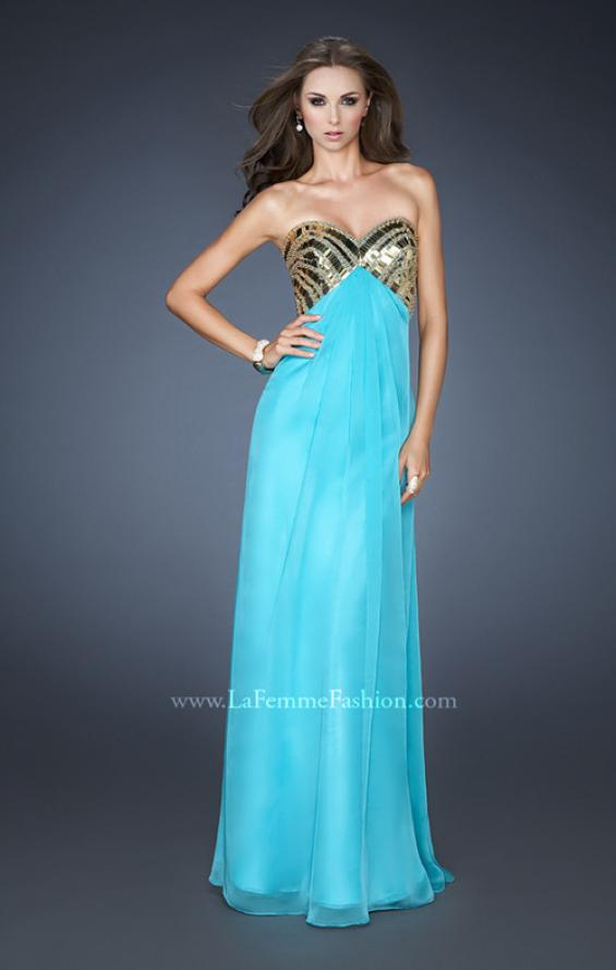 Picture of: Empire Waist Chiffon Prom Dress with Embellished Straps, Style: 18608, Detail Picture 1