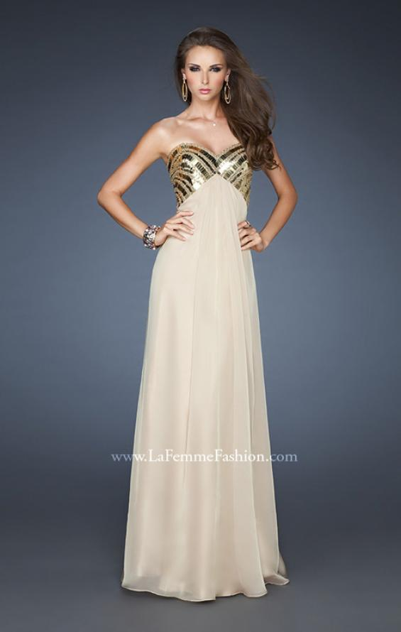 Picture of: Empire Waist Chiffon Prom Dress with Embellished Straps, Style: 18608, Detail Picture 2