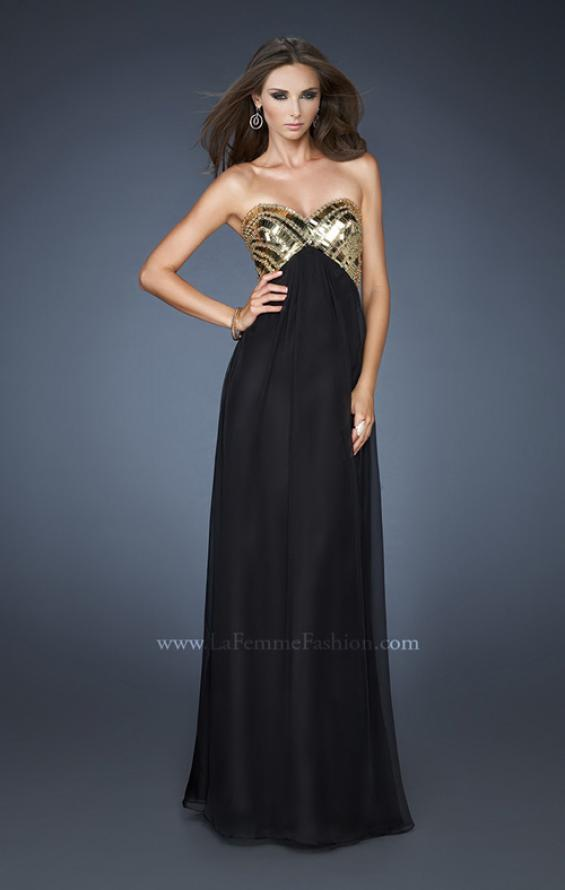 Picture of: Empire Waist Chiffon Prom Dress with Embellished Straps, Style: 18608, Detail Picture 3