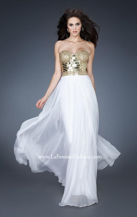 Picture of: Beaded Bodice Long Prom Dress with Sweetheart Neck, Style: 18626, Main Picture