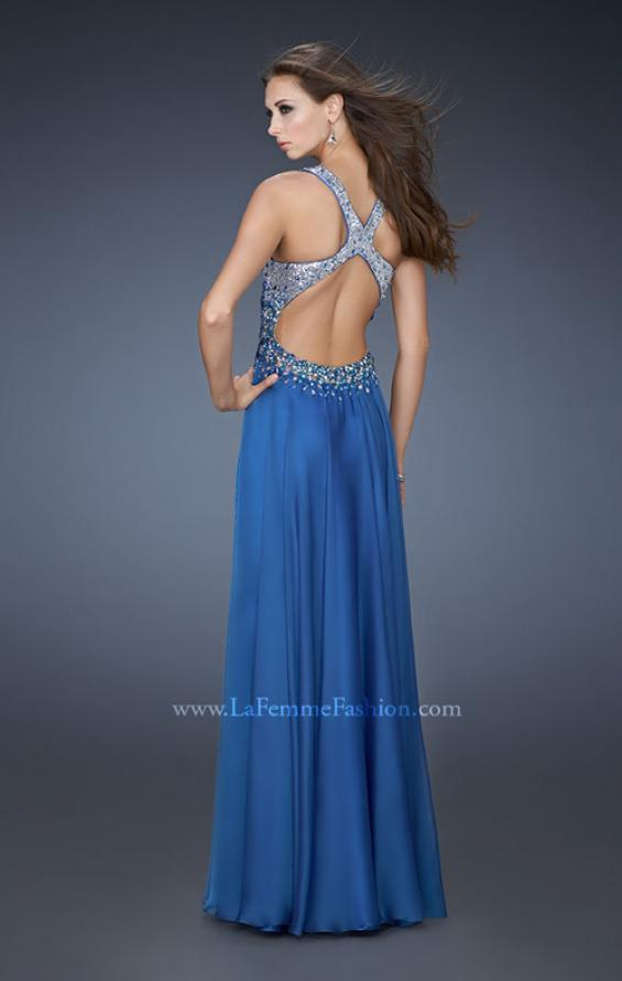 Picture of: V Neck Long Prom Dress with Fully Embellished Bodice, Style: 18631, Back Picture